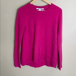 DVF pink crew neck cashmere sweater